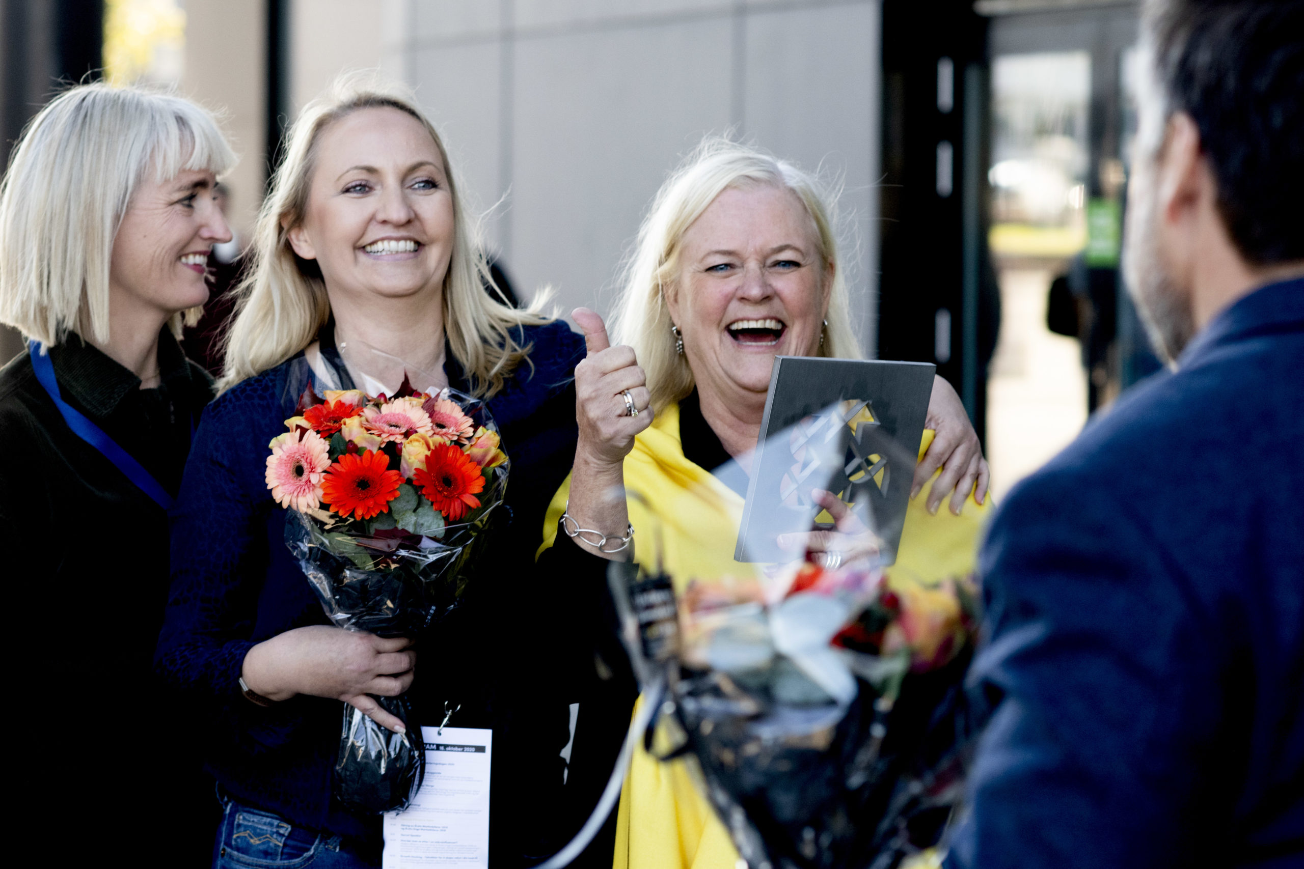 Pål Hjort Berge (Fasett), Ingrid Fure Schøpp, Heidi Elin Nupen og Marit Tesdal (Sandnes Sparebank). Foto: Jan Inge Haga